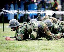 军训项目-匍匐前进
